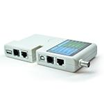 Купить Тестер кабельный NT-T040, Battery 9V, для тестирования витой пары, телефонного кабеля, USB, BNC