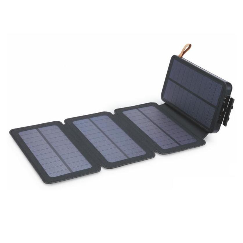 Купить Power bank 12000 mAh Solar, (5V/200mA), 2xUSB, 5V/1A/2.1A, USB  microUSB, влаго/ударо защищеный прорезиненный корпус, Black/Green, Corton BOX