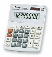 Купить Калькулятор офисный мини 800A, 27 кнопок, белый, размеры 143*113*25 мм, Box