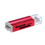 Купить Кардридер внешний USB 2.0 SIYOTEAM SY-662, All in 1, пластик, RED, Blister