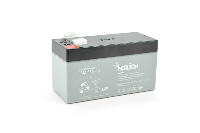 Купить Аккумуляторная батарея MERLION AGM GP1213F1 12 V 1,3Ah  ( 97 x 44 x 50 (55) ) Q20