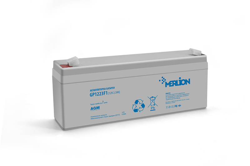 Купить Аккумуляторная батарея MERLION AGM GP1223F1 12 V 2,3Ah   ( 178 x 35 x 60 (65) ) Q10