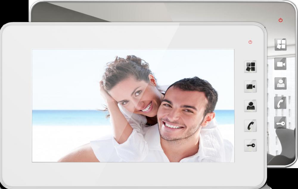 """Купить Видеодомофон Qualvision QV-IDS4734 белый 7"""" цветной монитор"""