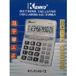 Купить Калькулятор офисный стандарт 1048-12, 28 кнопок, серебристый, размеры 216*163*47мм, BOX