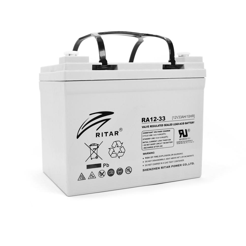 Купить Аккумуляторная батарея AGM RITAR RA12-33, Gray Case, 12V 33.0Ah ( 195 x 130 x155 (168) ) Q1