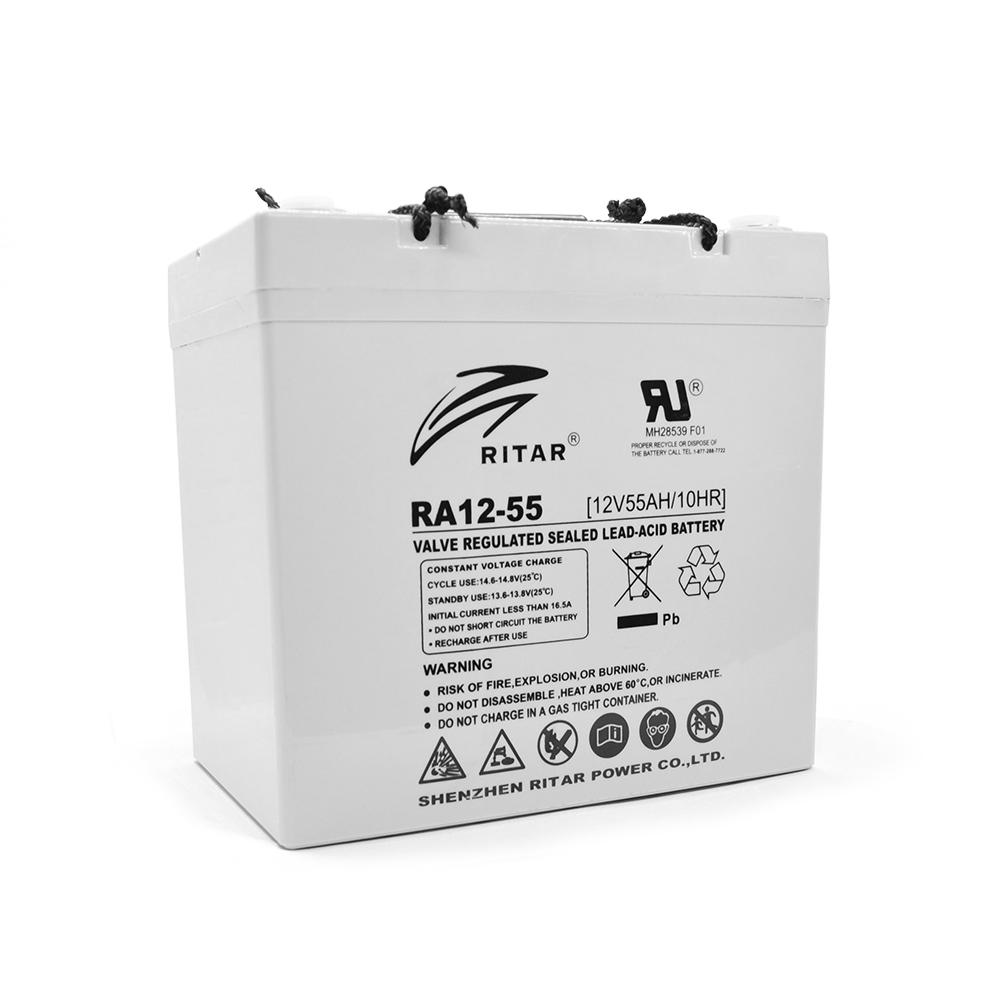 Купить Аккумуляторная батарея AGM RITAR RA12-55, Gray Case, 12V 55.0Ah ( 229 x 138 x 211 (216) ) Q1