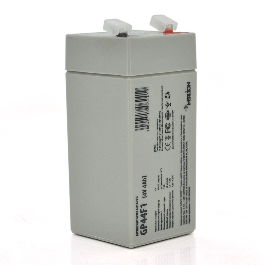 Купить Аккумуляторная батарея MERLION AGM GP44M1 4 V 4 Ah ( 47 x 47 x 100 (105 ) ) Q30