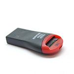Купить Кардридер внешний USB 2.0, формат MicroSD, пластик, Black/Red, (Техпакет)