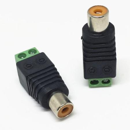 Купить Гнездо для подключения питания RCA-F с клеммами под кабель