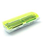 Купить Кардридер универсальный 4в1 MERLION CRD-7GR TF/Micro SD, USB2.0, Green, OEM