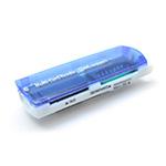 Купить Кардридер универсальный 4в1 MERLION CRD-7BL TF/Micro SD, USB2.0, Blue, OEM Q50