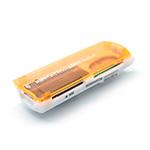Купить Кардридер универсальный 4в1 MERLION CRD-7OR TF/Micro SD, USB2.0, Orange, OEM