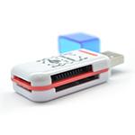 Купить Кардридер универсальный 4в1 MERLION CRD-4BL TF/Micro SD, USB2.0, Red, OEM Q50