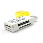 Купить Кардридер универсальный 4в1 MERLION CRD-4YE TF/Micro SD, USB2.0, Purple, OEM Q50