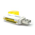 Купить Кардридер универсальный 4в1 MERLION CRD-5VL TF/Micro SD, USB2.0, Blue, OEM Q50