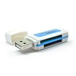 Купить Кардридер универсальный 4в1 MERLION CRD-5GR TF/Micro SD, USB2.0, Green, OEM Q50