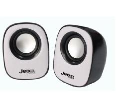 Купить Колонки 2.0 JEDEL JD-M600 USB+3.5mm, 2x3W, 90Hz- 20KHz, с регулятором громкости, Black/Blue, BOX, Q50