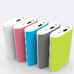 Купить Power bank 10400mAh PZX-C146, USB-1A + mini USB +кабель USB micro, LED фонарик, White/Blue, Blister-BOX