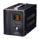 Купить Стабилизатор напряжения сервоприводный LUXEON LDS-500, 500VA, 350ВТ, LСD, 140-260V, 220 В± 3%, 2 Shuko, Металл, Black