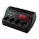 Купить Стабилизатор напряжения релейный LUXEON VK-1000 E, 800VA, 560ВТ, LED, 4 ступени, 140-275V, 220 В± 7%, 4 Shuko, Пластик, Black
