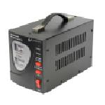 Купить Стабилизатор напряжения релейный LUXEON E1000, 1000VA, 600ВТ, Analog, 6 ступеней, 140-260V, 220 В± 7%, клемы, Металл, Black