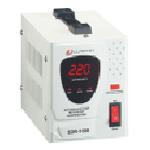 Купить Стабилизатор напряжения релейный LUXEON SDR-1000, 1000VA, 700ВТ, LCD, 6 ступеней, 140-260V, 220 В± 8%, 1 Shuko, Металл, White