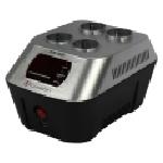 Купить Стабилизатор напряжения релейный LUXEON ZVK-1000, 1000VA, 600ВТ, LCD, 8 ступеней, 1140-265V, 220 В± 7%, 4 Shuko, Пластик, Silver