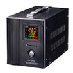 Купить Стабилизатор напряжения сервоприводный LUXEON LDS-1500, 1500VA, 1050ВТ, LСD, 140-260V, 220 В± 3%, 2 Shuko, Металл, Black