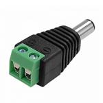 Купить Разъем для подключения питания DC-M (D 5,5x2,1мм) с клеммами под кабель (Black Plug) (100шт/уп), Q100