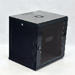 Купить Шафа 12U, 600x500x640мм (Ш*Г*В), економ, акрилове скло, чорна