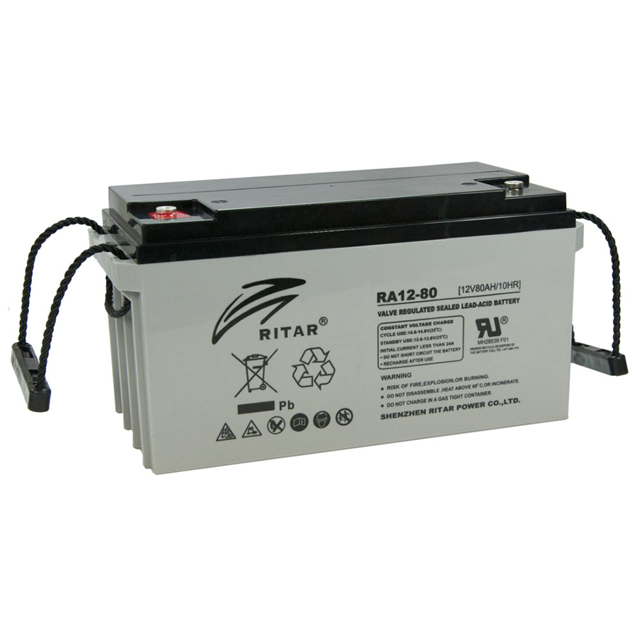 Купить Аккумуляторная батарея AGM RITAR DC12-80, Gray Case, 12V 80Ah  ( 350 x 167 x 182 ) Q1