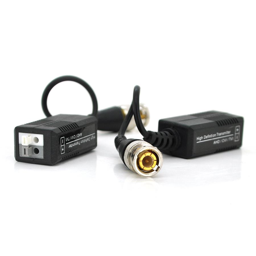 Купить Пассивный приемопередатчик видеосигнала Merlion AHD/CVI/TVI, 720P/1080P - 300/200 метров, под зажим без болтов цена за пару,Q100