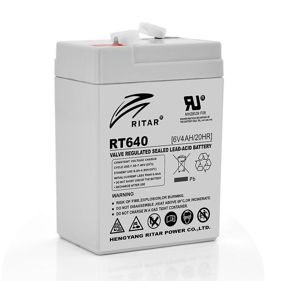 Купить Аккумуляторная батарея AGM RITAR RT640, Gray Case, 6V 4Ah  ( 70х47х99 (107) ) Q20