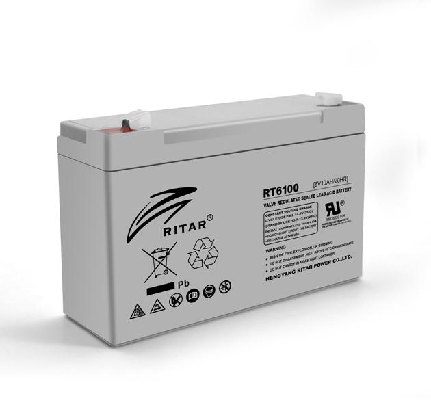 Купить Аккумуляторная батарея AGM RITAR RT6100, Gray Case, 6V 10Ah  ( 150 х 50 х 93 (99) ) Q20