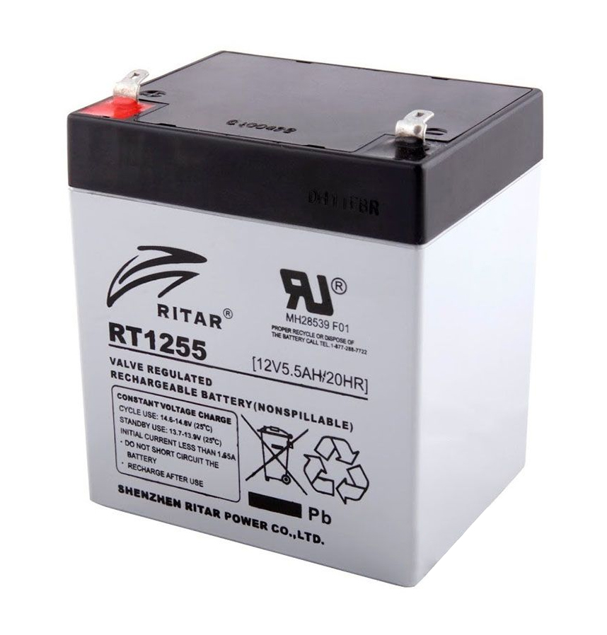 Купить Аккумуляторная батарея AGM RITAR RT1255, Gray Case, 12V 5.5Ah  ( 90 х 70 х 101 (107) ) Q10