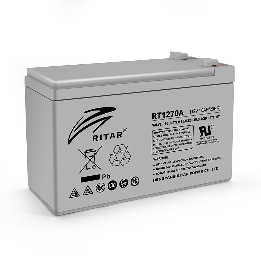 Купить Аккумуляторная батарея AGM RITAR RT1270A, Gray Case, 12V 7.0Ah  ( 151 х 65 х 94 (100) ) Q10