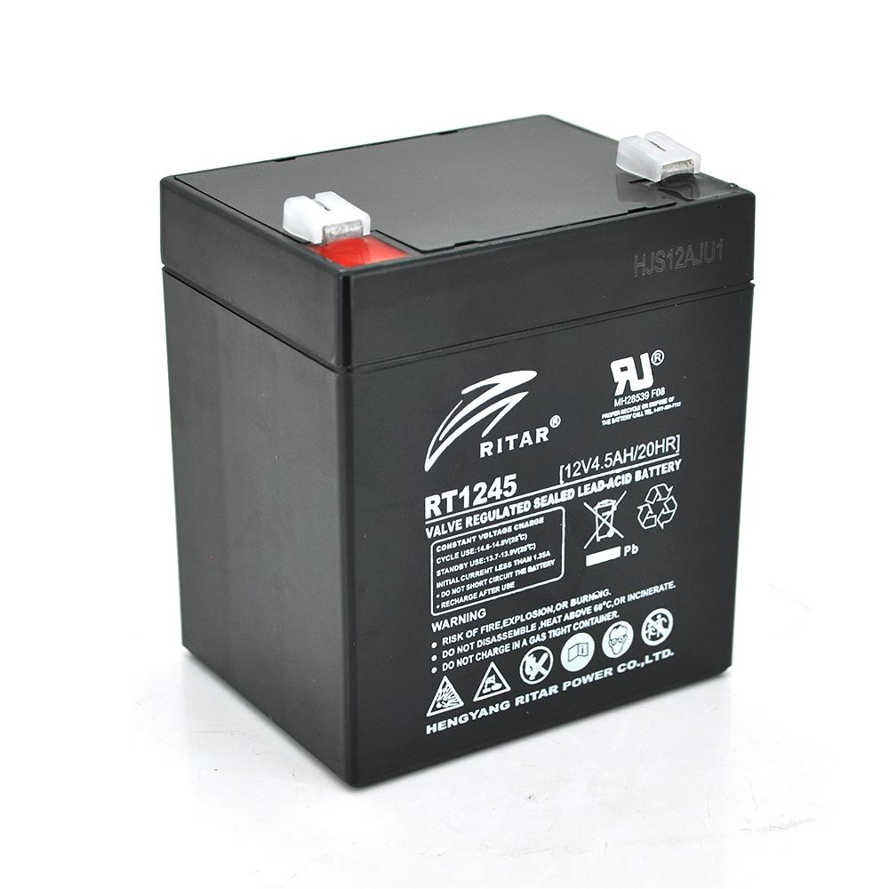 Купить Аккумуляторная батарея AGM RITAR RT1245B, Black Case, 12V 4.5Ah  ( 90 х 70 х 101 (107) ) Q10