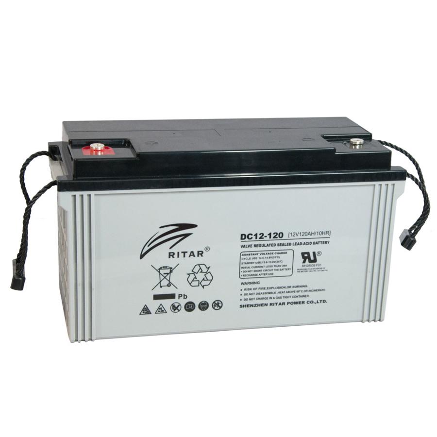 Купить Аккумуляторная батарея AGM RITAR DC12-120, Gray Case, 12V 120Ah ( 407 x 177 x 225 ) Q1