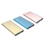 Купить Power bank 8000mAh PZX-C128, USB-1A + mini USB +кабель USB micro, LED фонарик, Gold, Blister-BOX
