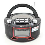 Купить Радиоприемник SONALAS SL-663RQ, LED,2x3W, FM радио, Входы microSD, USB, AUX, корпус паласмасс, Black, BOX