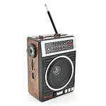 Купить Радиоприемник COLON RX-080, FM радио, Входы microSD, USB, AUX, корпус пластмасс, Black/Brown, BOX