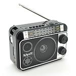 Купить Радиоприемник COLON RX-141BT, FM радио, Входы microSD, USB, AUX, корпус пластмасс, Black/Brown, BOX
