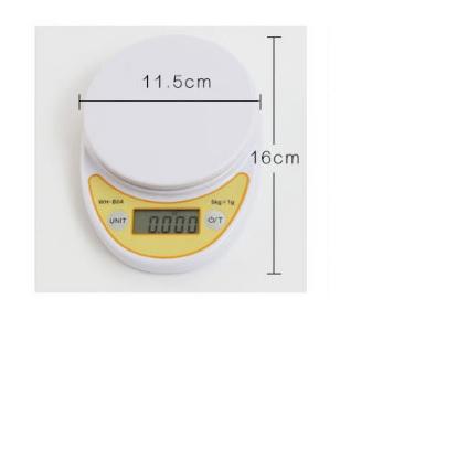 Купить Весы точные кухонные с круглой чашкой, 0,001-5 кг, питание 2 батарейки АА
