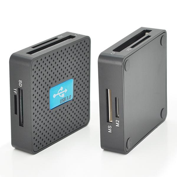 Купить Кардридер универсальный USB 3.0 HDH-939 SD/ MMC / MS /TF/M2, USB2.0, Black, Блистер