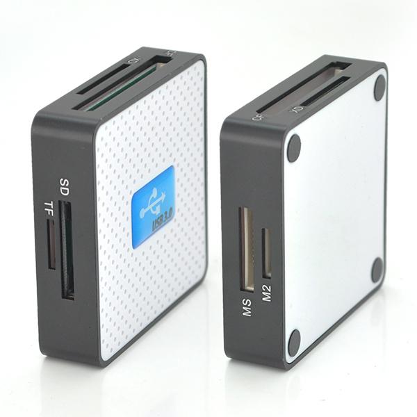 Купить Кардридер универсальный USB 3.0 HDH-939 SD/ MMC / MS /TF/M2, USB2.0, White, Блистер