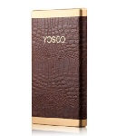 Купить Power bank 8000mAh YOSOO, USB1A+2A, Корпус - кожа крокодила, 128x71x10, Brown, + кабель microUSB, BOX