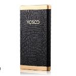 Купить Power bank 8000mAh YOSOO, USB1A+2A, Корпус - кожа крокодила, 128x71x10, Black, + кабель microUSB, BOX