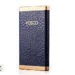 Купить Power bank 8000mAh YOSOO, USB1A+2A, Корпус - кожа крокодила, 128x71x10, Blue, + кабель microUSB, BOX