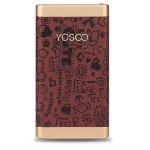 Купить Power bank 10000mAh YOSOO, USB1A+2A, Корпус - кожа узор, 120x60x15, Brown, + кабель microUSB, BOX