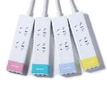 Купить Сетевой фильтр Remax Ming Youth Version Series 2*Plug 3*USB  220V евровилка (EN) white-pink